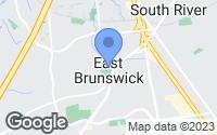 Map of East Brunswick, NJ