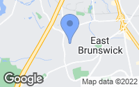 Map of East Brunswick, NJ