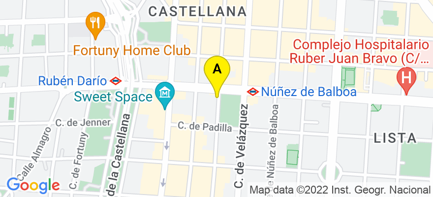 situacion en el mapa de . Direccion: Calle Juan Bravo 12, 28006 Madrid. Madrid