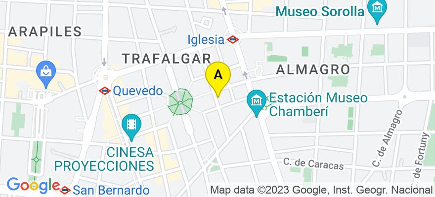 situacion en el mapa de . Direccion: Juan de Austria 16, 28010 Madrid. Madrid