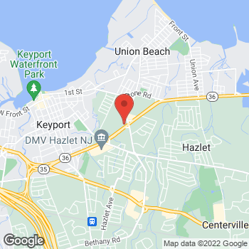 Map of Taco Bell at 1185 Highway 36, Hazlet, NJ 07730
