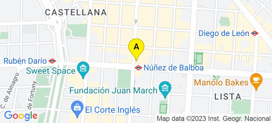situacion en el mapa de . Direccion: velazquez, 94, 1º, 28006 Madrid. Madrid