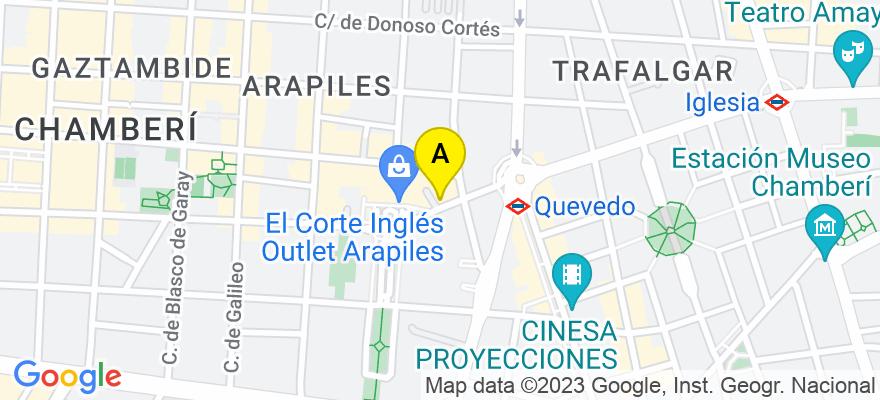 situacion en el mapa de . Direccion: Calle de Arapiles, 8, 28015 Madrid. Madrid