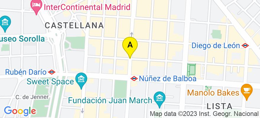 situacion en el mapa de . Direccion: Calle Velazquez, 28006 Madrid. Madrid