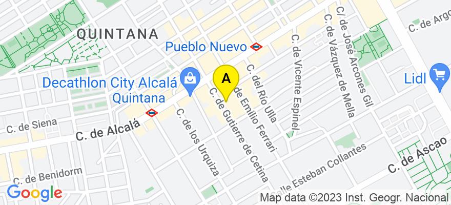 situacion en el mapa de . Direccion: Calle Gutierre de Cetina, 13, 28017 Madrid. Madrid
