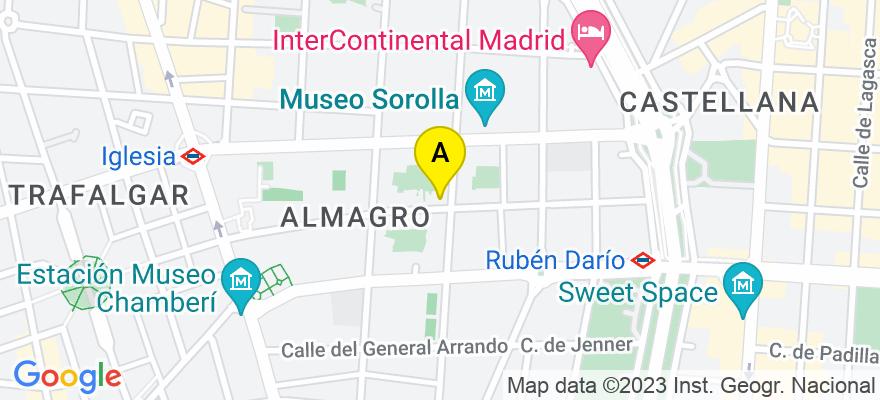 situacion en el mapa de . Direccion: C/ Zurbano 45, 28010 Madrid. Madrid