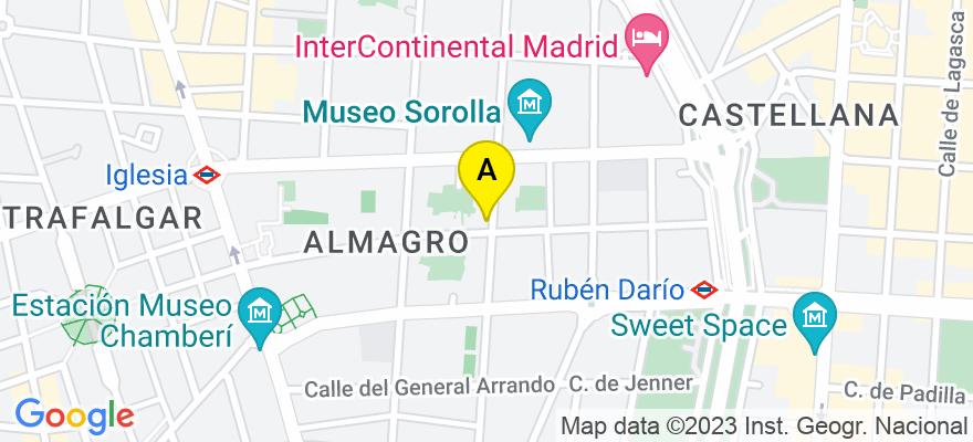 situacion en el mapa de . Direccion: Calle Zurbano 45  1º, 28010 Madrid. Madrid