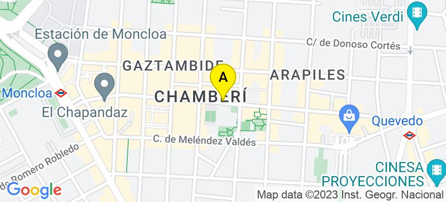 situacion en el mapa de . Direccion: Calle Fernando el Católico, 42 - 5º D, 28031 Madrid. Madrid