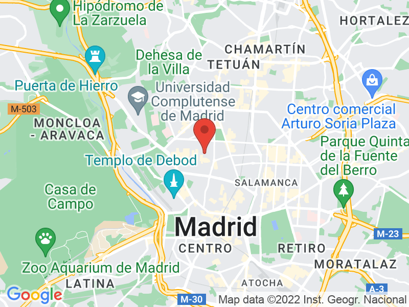 Imagen de Google Maps de tu ubicación