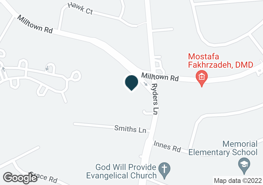 Google Map of421 RYDERS LN