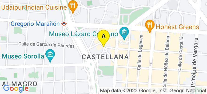 situacion en el mapa de . Direccion: Calle Hermanos Bécquer, 7, 28006 Madrid. Madrid