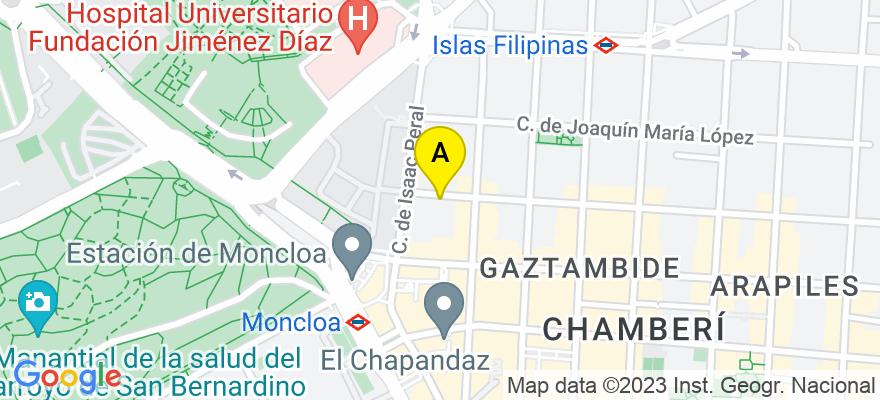 situacion en el mapa de . Direccion: C/ Donoso Cortés, nº 83, 5º D, 28015 Madrid. Madrid
