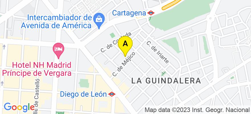situacion en el mapa de . Direccion: Calle Agustin Duran 35, Bajo, 28028 Madrid. Madrid