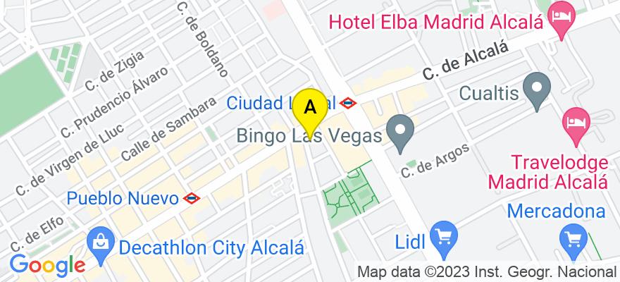 situacion en el mapa de . Direccion: Travesía José Arcones Gil 3, 28017 Madrid. Madrid
