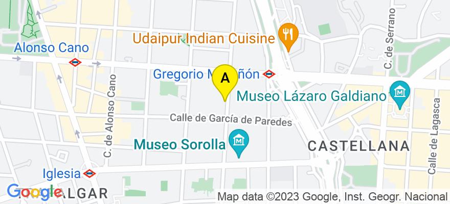 situacion en el mapa de . Direccion: Zurbano, 71, 28010 Madrid. Madrid
