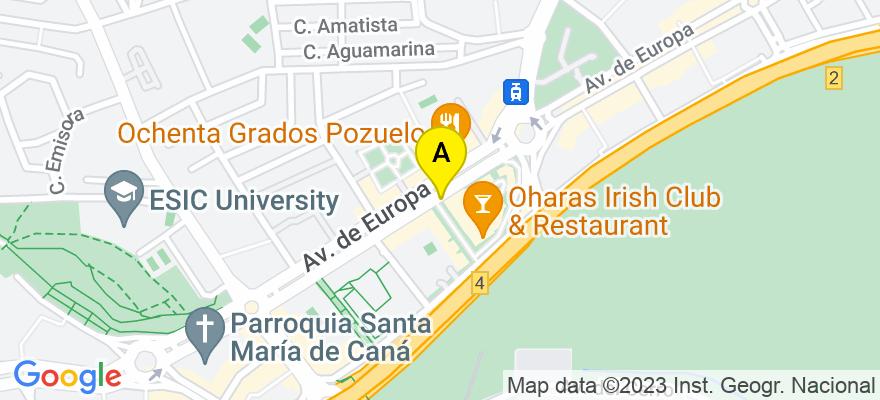 situacion en el mapa de . Direccion: AVDA.EUROPA 16-CHALET 13, 28224 Pozuelo de Alarcón. Madrid