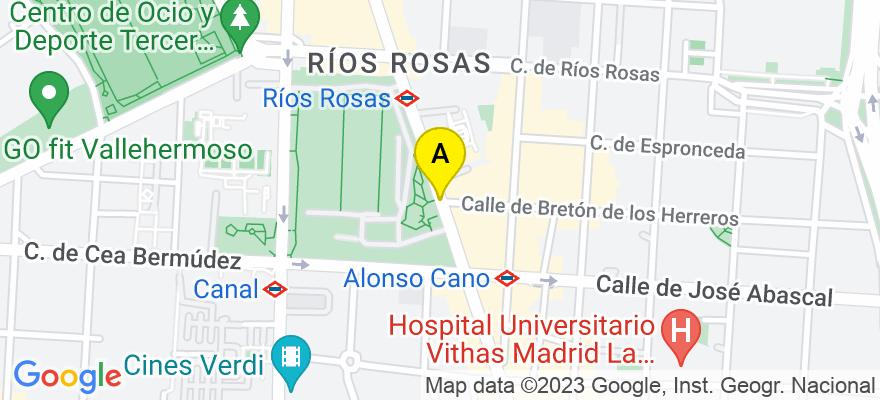 situacion en el mapa de . Direccion: CL.SANTA ENGRACIA,112, 28003 Madrid. Madrid