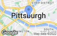 Map of Pittsburgh, PA