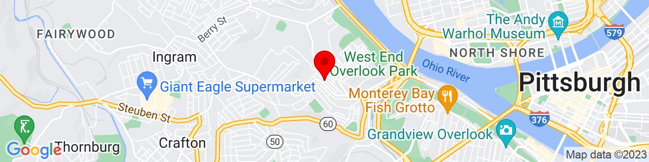 Google Map of 40.4430051, -80.0420838