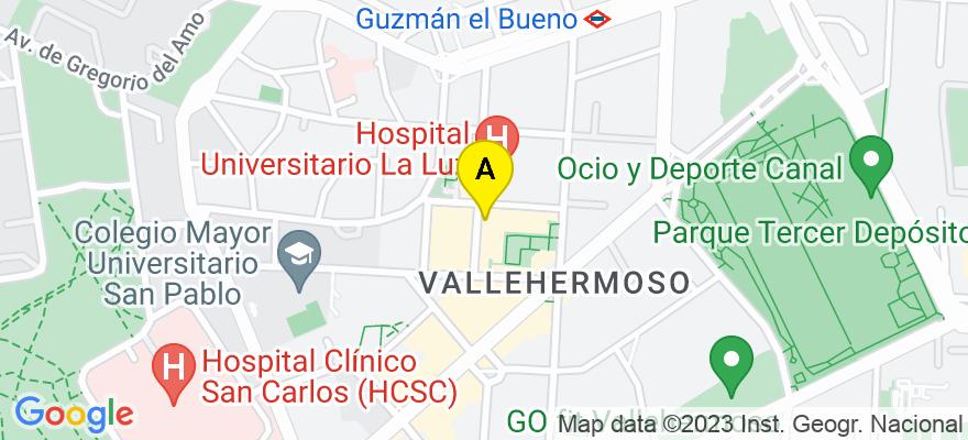 situacion en el mapa de . Direccion: Avenida General Rodrigo, 6, 4º, 28003 Madrid. Madrid