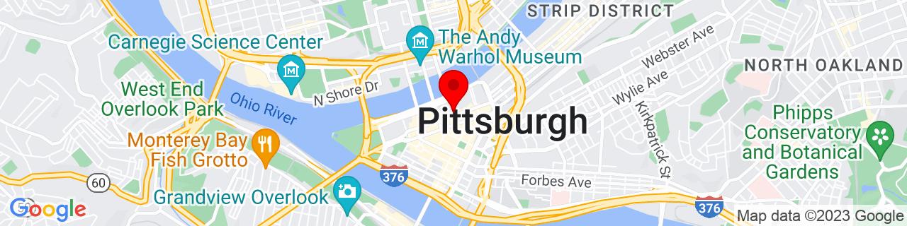 Google Map of 40.4439894, -79.9984869