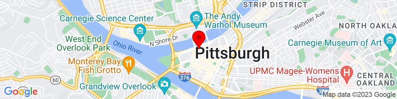 Google Map of 40.4439905, -80.0018719