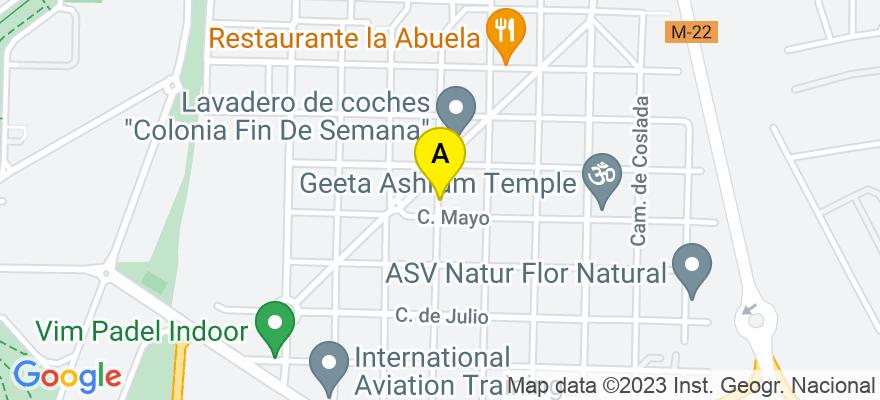 situacion en el mapa de . Direccion: 20 de noviembre 144, 34803 Madrid. Madrid