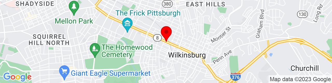 Google Map of 40.4450771, -79.88892969999999