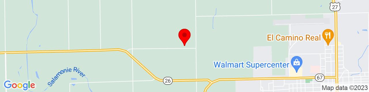 Google Map of 40.4465288, -85.02334599999999