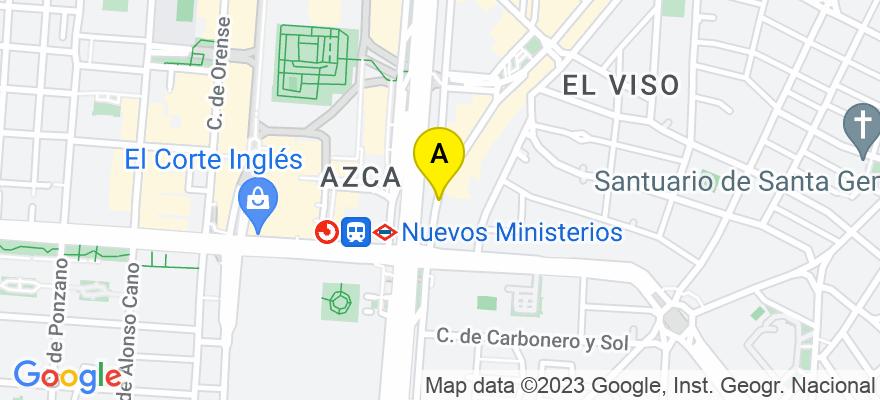 situacion en el mapa de . Direccion: Paseo de la Castellana 114, 28046 Madrid. Madrid
