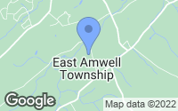 Map of East Amwell Township, NJ