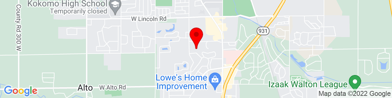Google Map of 40.4482767, -86.1344697