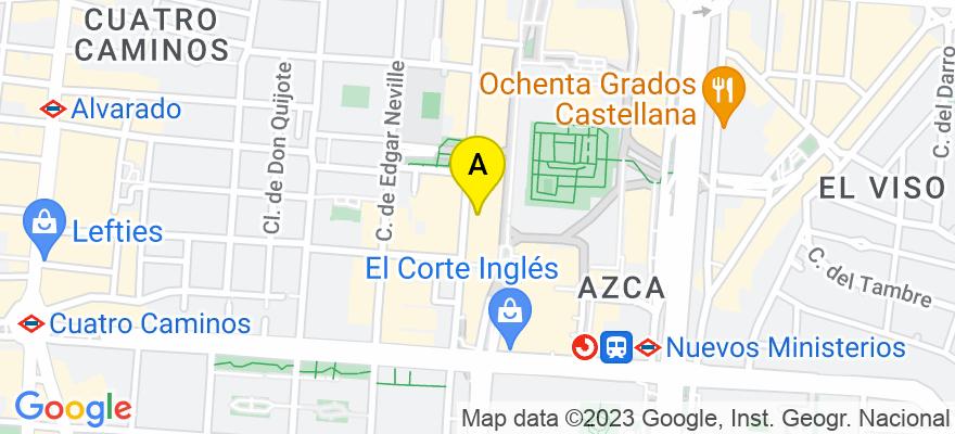 situacion en el mapa de . Direccion: Calle Orense 8, 12-E, 28020 Madrid. Madrid