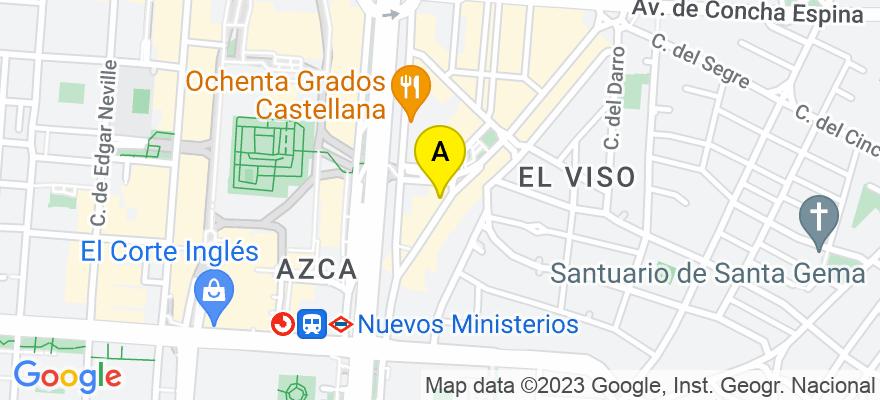 situacion en el mapa de . Direccion: Paseo de la Habana 5, 28036 Madrid. Madrid