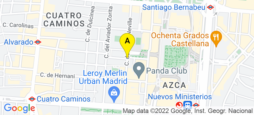situacion en el mapa de . Direccion: calle general moscardo, 28020 Madrid. Madrid