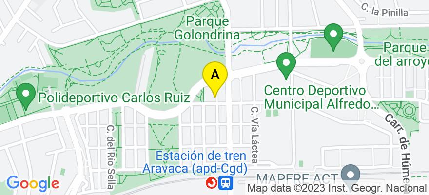 situacion en el mapa de . Direccion: Calle Valtravieso 28, 28023 Madrid. Madrid