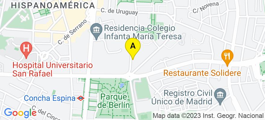 situacion en el mapa de . Direccion: CALLE PUERTO RICO 4, 28220 Madrid. Madrid