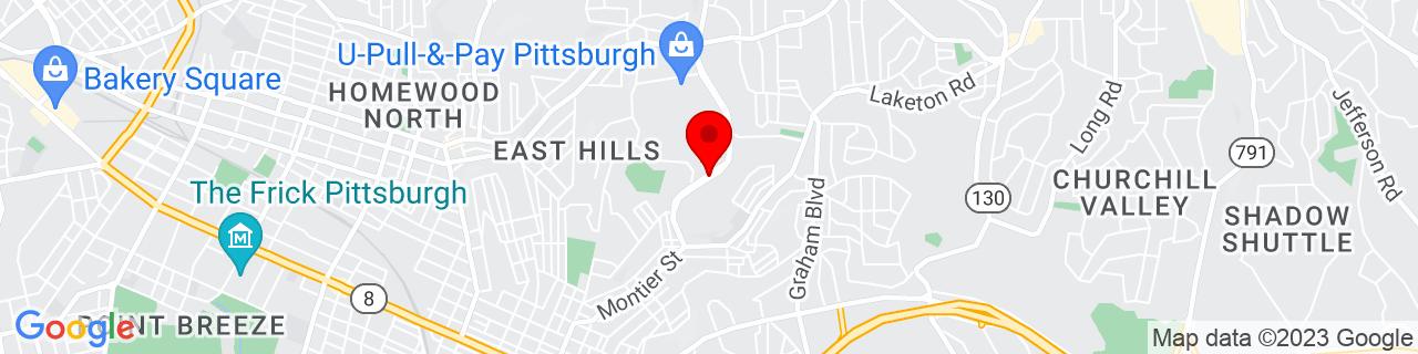 Google Map of 40.4532421, -79.8654949