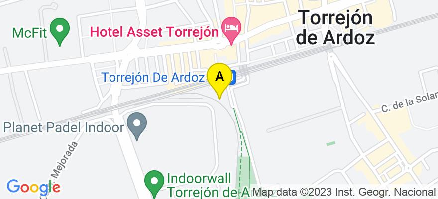 situacion en el mapa de . Direccion: Calle Chile, 13 (local), 28850 Torrejón de Ardoz. Madrid