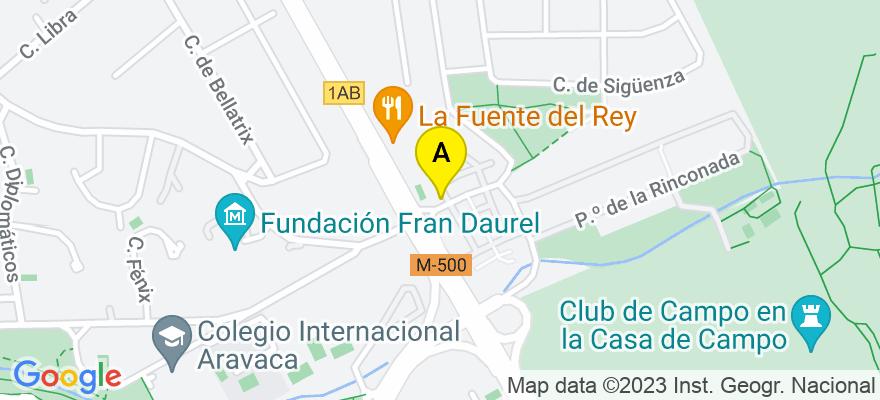 situacion en el mapa de . Direccion: Ronda de la Buganvilla, Nº 130, 28023 Madrid. Madrid