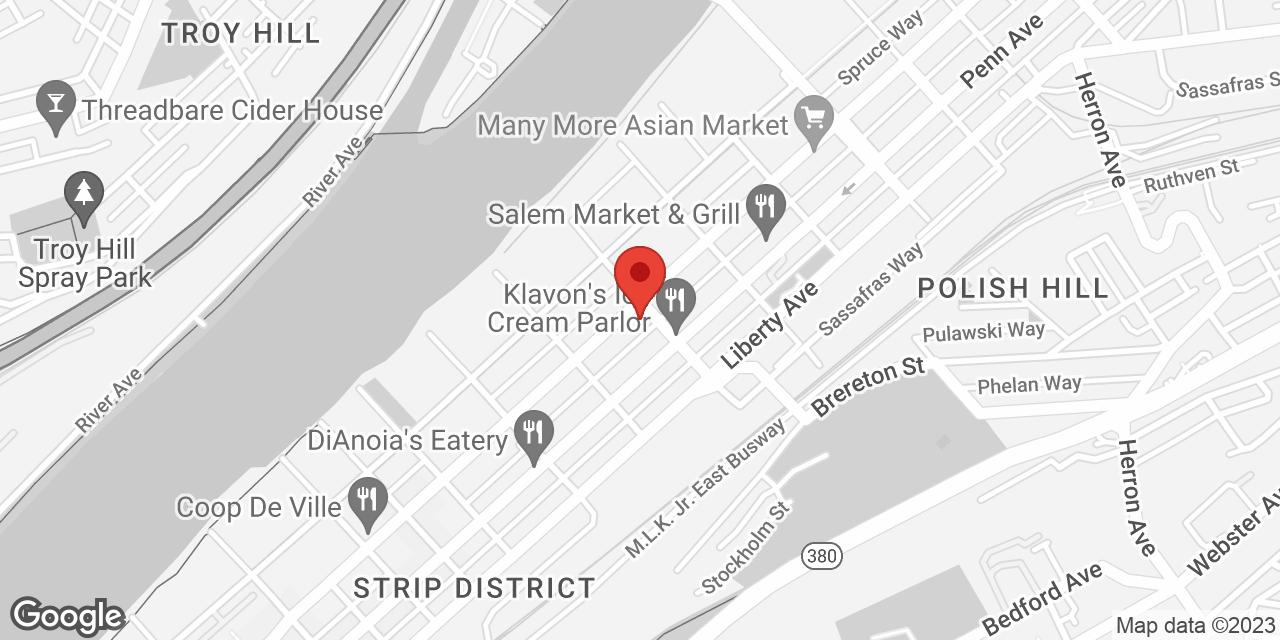 Google Map showing the location of BarkleyREI