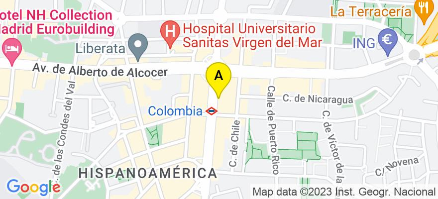 situacion en el mapa de . Direccion: CALLE PRINCIPE DE VERGARA 266, 28016 Madrid. Madrid