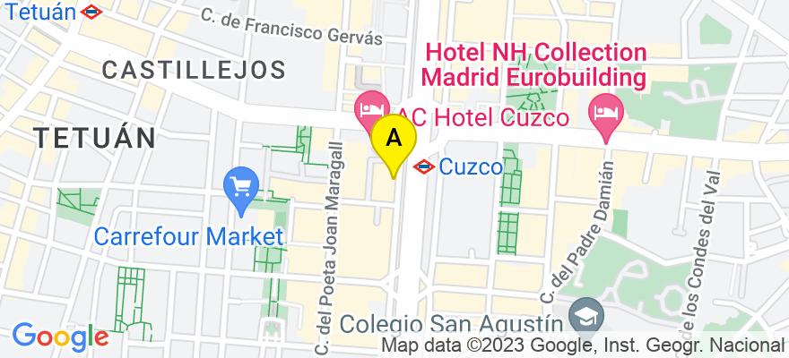situacion en el mapa de . Direccion: Castellana 123 of. 2, 28046 Madrid. Madrid