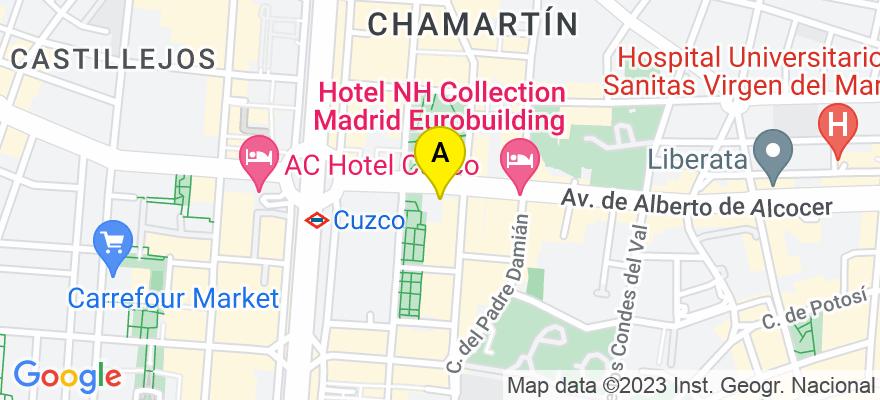 situacion en el mapa de . Direccion: Avenida Alberto Alcocer 8, 28036 Madrid. Madrid