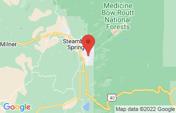 Map of Steamboat Springs