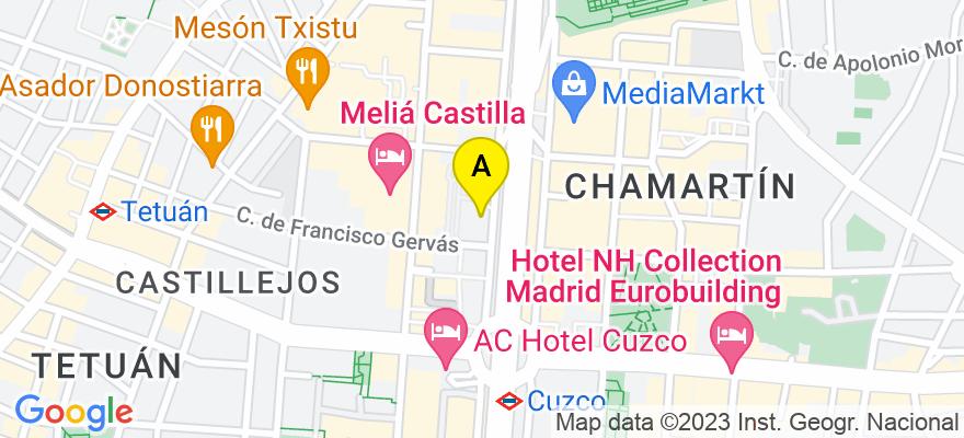 situacion en el mapa de . Direccion: Paseo de la Castellana 153, 28046 Madrid. Madrid