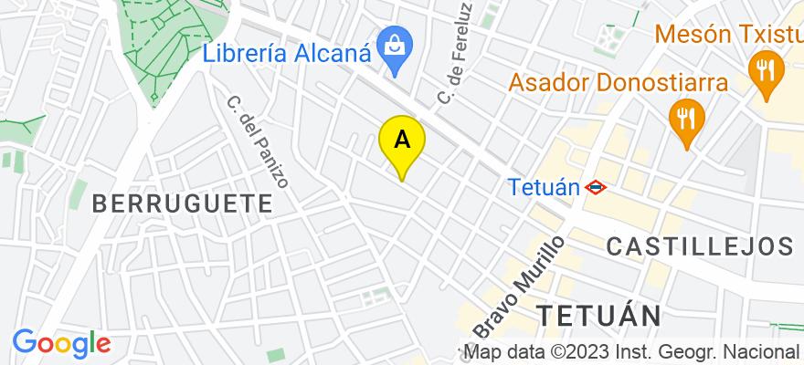 situacion en el mapa de . Direccion: calle algodonales, nº 38 3º A, 28039 Madrid. Madrid