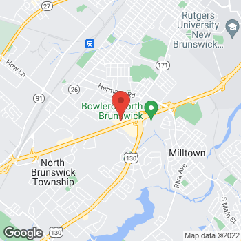Map of Panera Bread at 871 B US 1 South, North Brunswick, NJ 08902