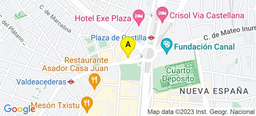 situacion en el mapa de . Direccion: Bravo Murillo 377 3º G, 28020 Madrid. Madrid