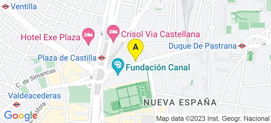 situacion en el mapa de . Direccion: Mateo Inurria nº. 11, 6º. A, 28036 Madrid. Madrid